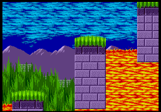 Background Hq Sonic The Hedgehog Marble Zone
