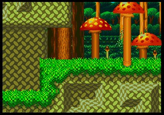Background Hq Sonic And Knuckles Mushroom Hill Zone